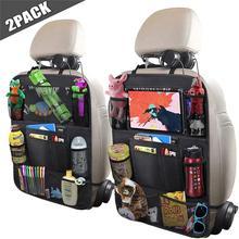 Baby Child Car Seat Back Organizer Multi-Pocket Storage Bag Storage Kick-proof Cushion