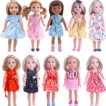 13 Models Dresses Doll Clothes Accessories 5 Cm Doll Shoes For 14.5 Inch Wellie Wisher&Nancys&32-34 cm Paola Reina Russian Toys image