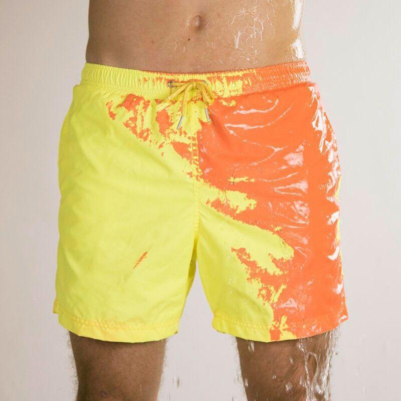 2020 New Mens Swimwear Magical Color Change Swimming Short Trunks Summer Swimsuit Swimwear Shorts Quick Dry Beach Shorts Men