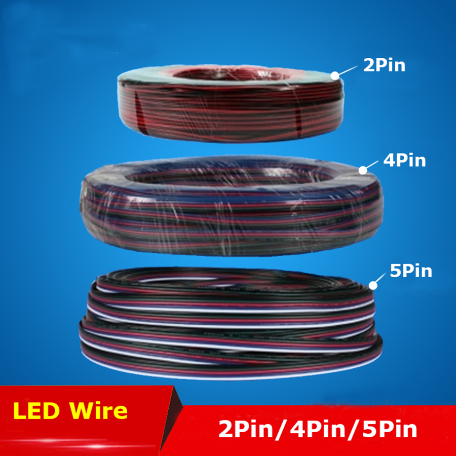 2P/4P/5P RGB Led Connector LED RGB cable Extension Extend Wire Cord Connector For RGB rgbw single color 5050 3528 LED Strip