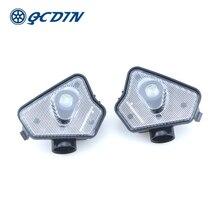 QCDINสำหรับMB LEDด้านข้างรถTowกระจกPuddleโลโก้กระจกมองหลังโปรเจคเตอร์โคมไฟสำหรับMB Multi Seriesรุ่น