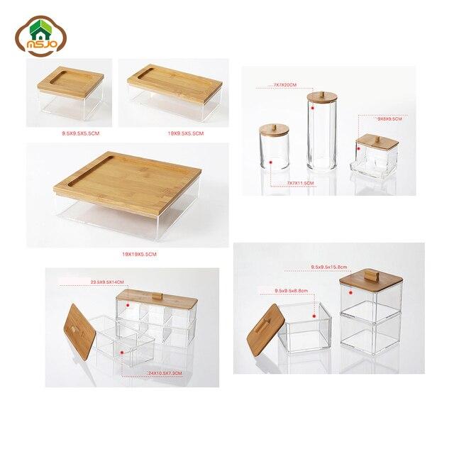 קופסאות אחסון למוצרי איפור וטיפוח בגדלים שונים 2