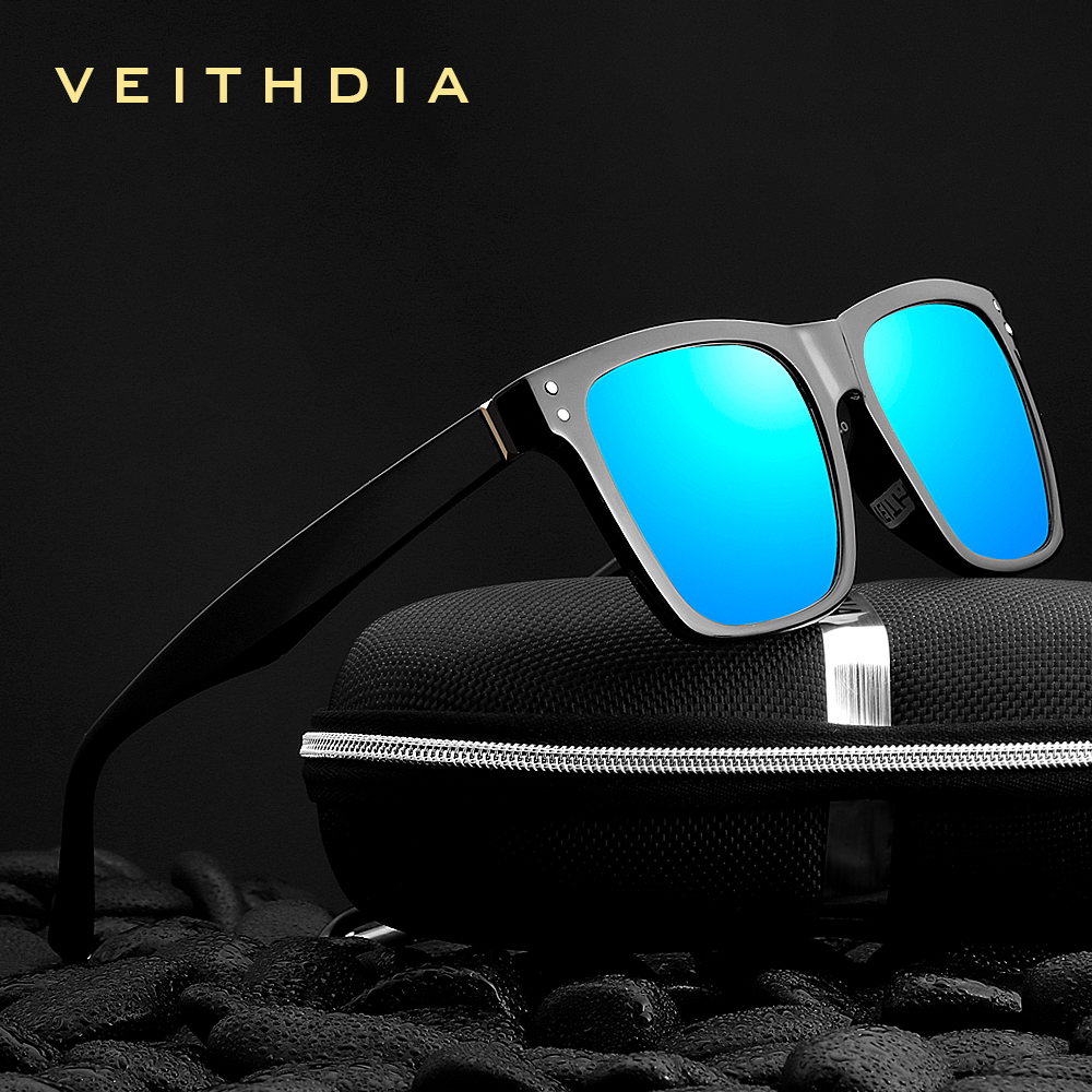 VEITHDIA Brand Unisex Retro TR90 Square Sunglasses Photochromic  Mirror Polarized Vintage Eyewear Sun Glasses For Men/Women 7018