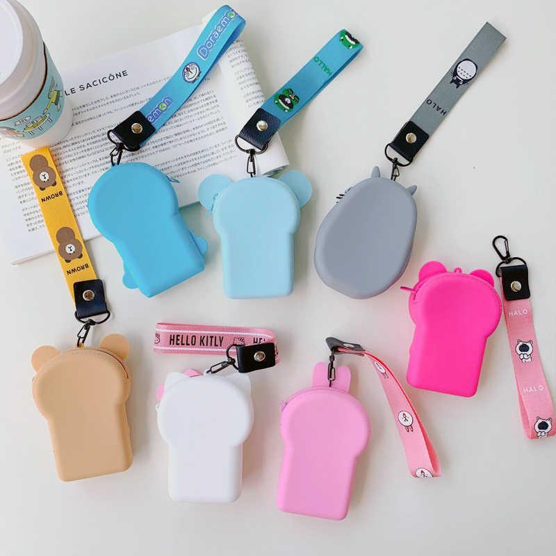 Envío Directo moda monederos suave silicona chicas monederos mujeres Mini caja de almacenamiento auriculares Bluetooth con carcasa caja Linda dinero bolsa