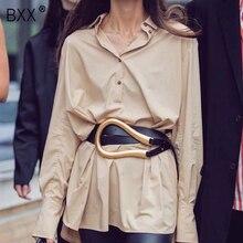 [BXX] 2020 tasarımcı kemerleri kadınlar yüksek kaliteli deri kemer elbise için lüks marka moda bel Femme tarzı bel kemeri HJ717