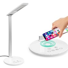 LED Desk Lamp with Wireless Charger Standard Charge 5 modes & 7 Brightness Levels USB Port for iPhone Fast Galaxy