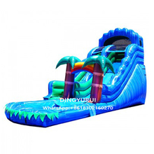 цена на Hot selling Jungle Theme Amusement Park Inflatable Slide Double Water Slide Fantacy Game for Sale