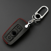 Leather Car Key Fob Case Cover Suitable For BMW E90 E60 E70 E87 1 3 5 6 Series X1 X5 X6 Z4 Car styling Accessories