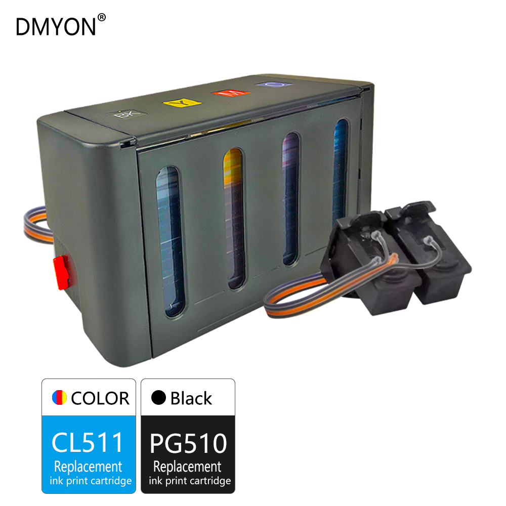 DMYON Replacement Canon 511 CISS for PG CL PIXMA 510 MP495/MP499 Pg510 title=