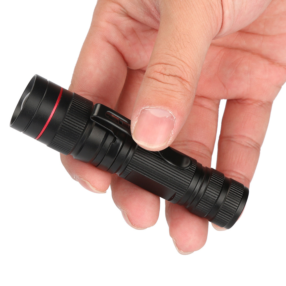 Super Bright 6000LM ZOOMABLE Flashlight Q5 LED 3Modes AA//14500 Torch Lamp