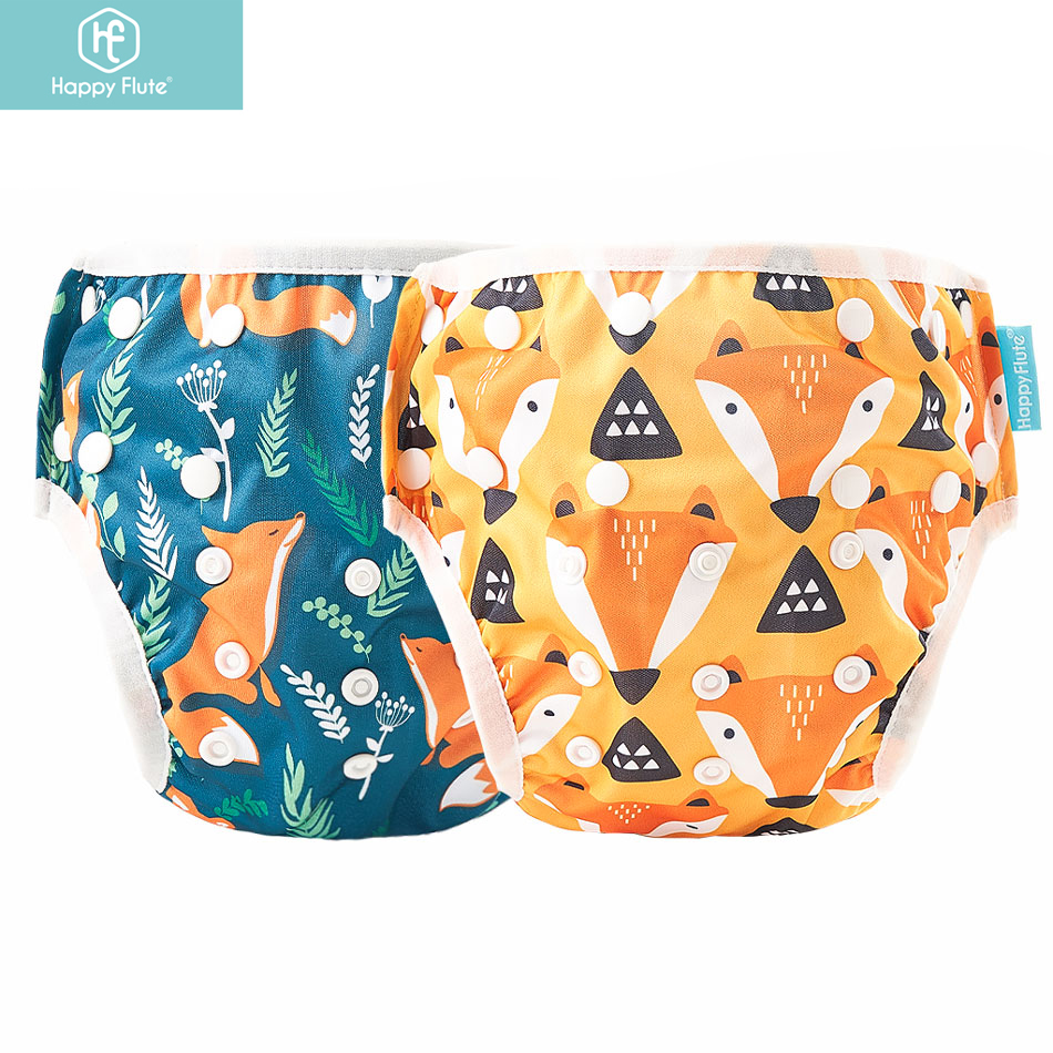 HappyFlute 2Pcs/Pack Baby Swim Diaper Waterproof Adjustable Cloth Diapers Swimwear for Kids Pool Pant Swimming Lessons/Holiday