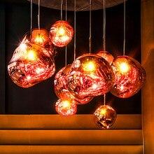 İskandinav lav LED kolye işıkları Modern işık PVC aydınlatma oturma odası ışıkları ev armatürleri Loft mutfak asılı lambalar armatürleri