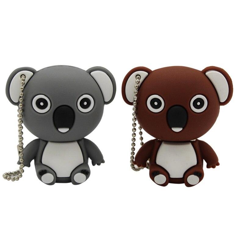 TEXT ME Cartoon  64GB  Cute Koala  USB Flash Drive 4GB 8GB 16GB 32GB Pendrive USB 2.0 Usb Stick