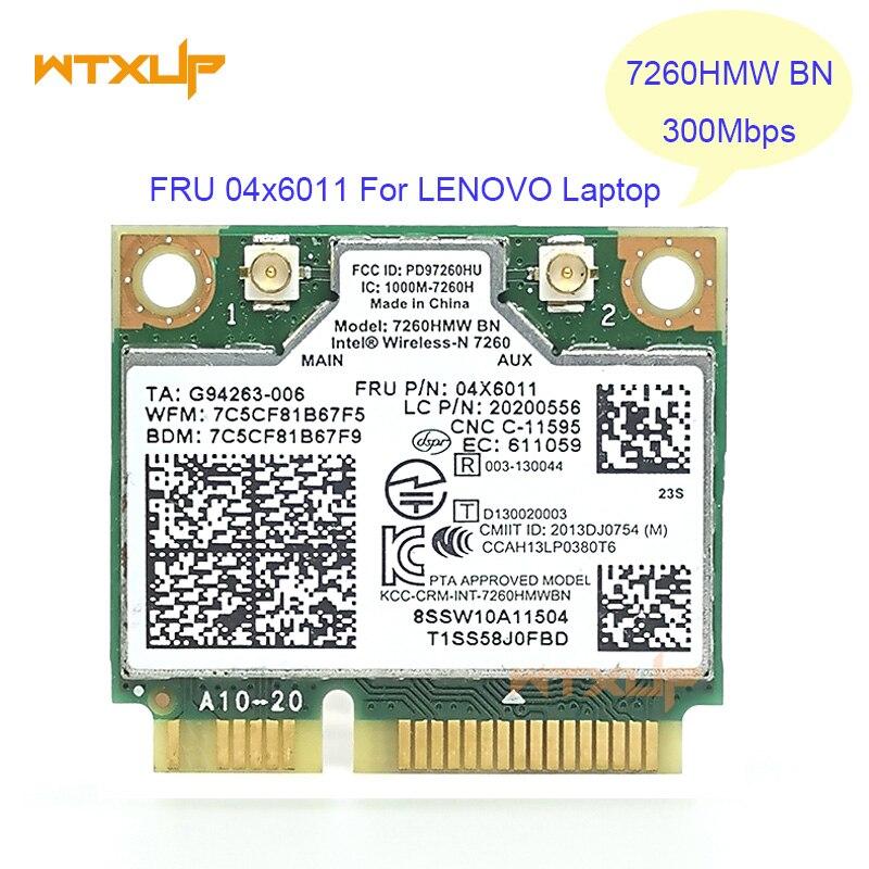 7260HMW + BT 4.0 MINI CARTÃO PCIE WLAN INTEL 7260BN WIRELESS-N 04X6011 Para Lenovo K4350 K4250 B5400 M5400 M4400S S410 S310 S540