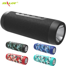 Zealot S22 Portable wireless speaker Bluetooth music speaker with FM Radio Outdoor LED Light Speaker TF card USB with Power Bank аудио колонка bluetooth sruppor tf bluetooth speaker