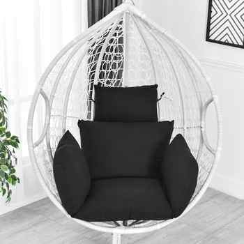 Hanging Hammock Chair Swinging Garden Outdoor Soft Seat Cushion Seat 220KG Dormitory Bedroom Hanging Chair Back with Pillow - DISCOUNT ITEM  43% OFF All Category