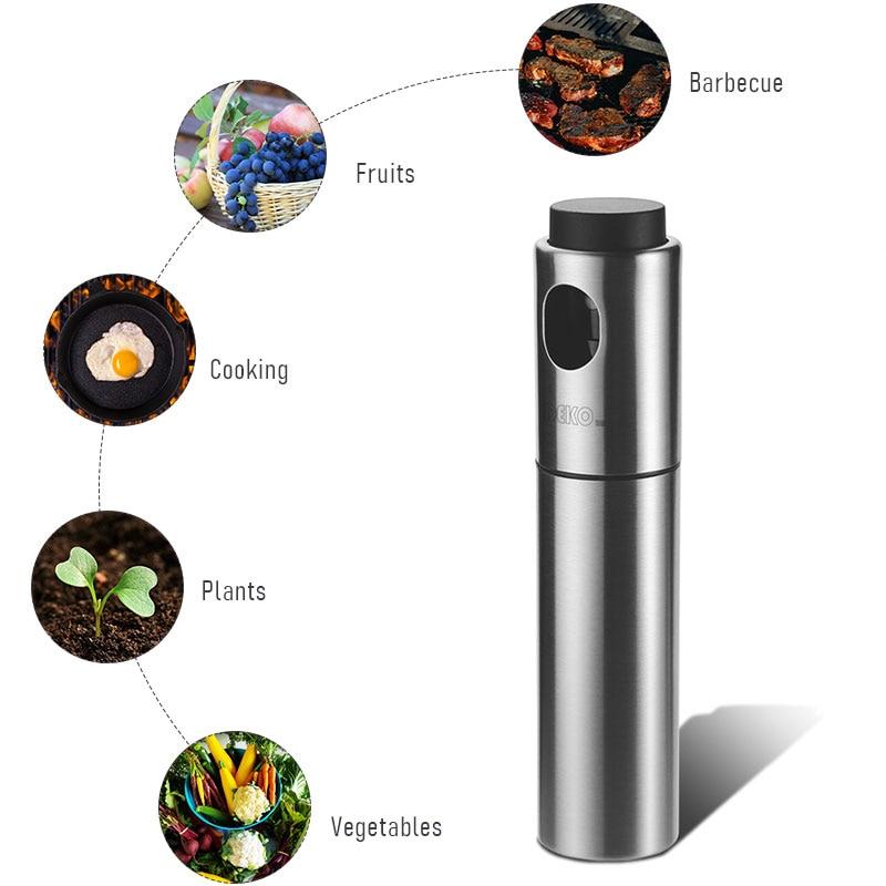 DEKO Vinegar BBQ Olive Oil Cooking Grill Dispenser Glass Stainless Steel Kitchen Cap Supplies Oil Spray Bottle 4