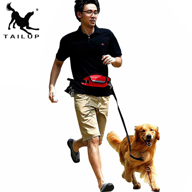 [TAILUP]Pet Products For Large Dog Hands Free Leash Leads Puppy Dog Harness Leash For Animals Dog-Collar Pet accessories PY0001