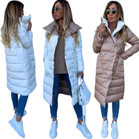 Women Double sided Coat Winter Warm Long Jacket Casual Solid Colour Ladies Coat Outwear Cotton abrigos mujer invierno 2019 D20