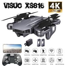 Visuo XS816 4K Kamera Drohne Mit Kamera HD WiFi FPV Dual Optischen Fluss Faltbare Selfie Eders Geste Schießen Rc quadcopter
