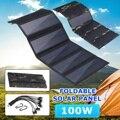 50 W/75 W/100 Вт складной USB Панели солнечные Зарядное устройство Портативный складные столы и стулья для 100W солнечных батарей Зарядное устройст...