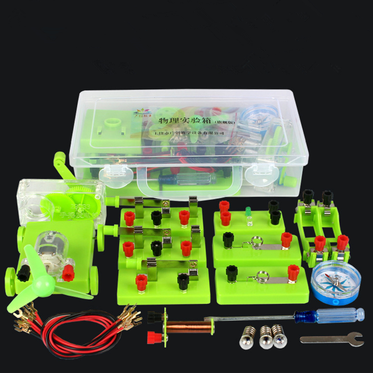 DIY Wind Car Circuit Electricity Learning Kit Physics Experiments Science Experiment Education Toy Electrical Experiment Box