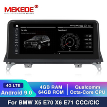 PX6 6 ядра android 9,0 автомобильный DVD для BMW X5 E70 BMW X6 E71 плеер аудио стерео Мультимедиа gps стерео монитор ips экран слуховой аппарат
