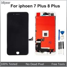 Лучшее качество AAAA ЖК - дисплей для iphone 8 Plus 7 Plus 7 P 8 P LCD сенсорный экран дигитайзер сборка для iphone7Plus 8 Plus LCDs
