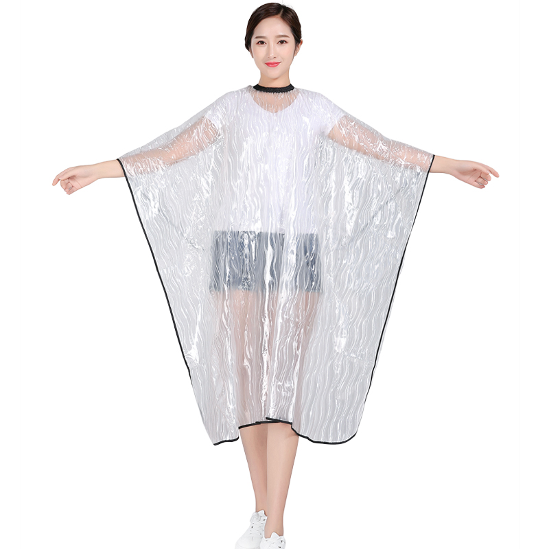 Transparent Light PVC Hairdressing Cape Hair  Coloring Waterproof Apron Salon Barber Wrap Pet Washing Gown In High Quality