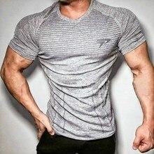 Camisetas estampadas ajustadas para homem, camisetas de compresión para cultura, entrenamiento, fitness, cuello redondo, homem