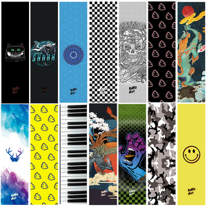 Professional Skateboard Grip Tape Griptapes For Scooter Sandpaper Skate Deck Grips Stickers Double Rocker Skateboard Longboard