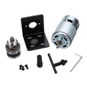 Image 2 - Mini perceuse à main avec mandrin et support de montage pour fraiseuse, moteur 775 10000 tr/min cc 12V, moteur 775 de presse à tour
