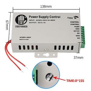 Image 5 - דלת בקרת גישה מערכת ערכת 125KHz RFID קורא מקלדת + אספקת חשמל + אלקטרומגנטית חשמלי Strike בורג מנעולי + EM Keyfbos