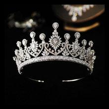 Parmalambe Роскошная Королевская корона из циркона свадебная