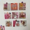 9 blätter Rosa Mädchen Serie Dekoration Karte Fotografische Requisiten Postkarten Zurück Blank Kreative Diy Wand Aufkleber Geschenk Grußkarten
