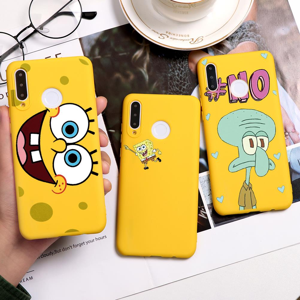 TPU Spongebobs Cases For Huawei Honor View 10 20 9 Lite 8X 9X Play V30 20S 10I 20I P Smart Z P30 P40 P20 Pro Lite 2019 Case Soft