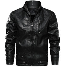 New Men PU Jacket Leather Coats Motorcycle Jackets Slim Fit Windbreaker Fashion Male Outerwear Brand ClothingFaux Leather Coats