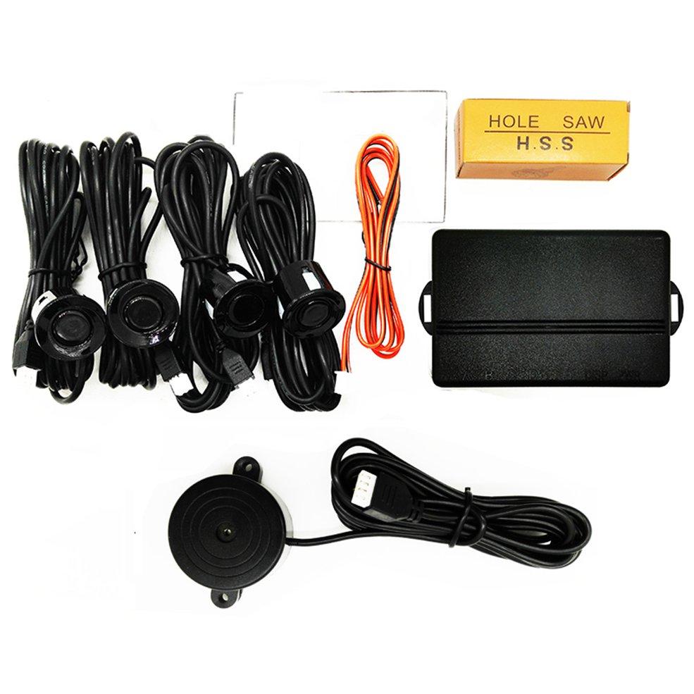 LED Parkplatz Sensor Auto Auto Parktronic Mit 4 Sensoren Reverse Backup Parkplatz Radar-Monitor Detektor System