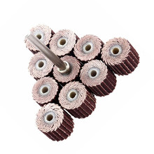 10pcs Flap Grinding Wheels 240 Grit Sanding Flap Disc Dremel Accessories Sanding Disc Sander Rotary Tool+1pc Mandrel(China)