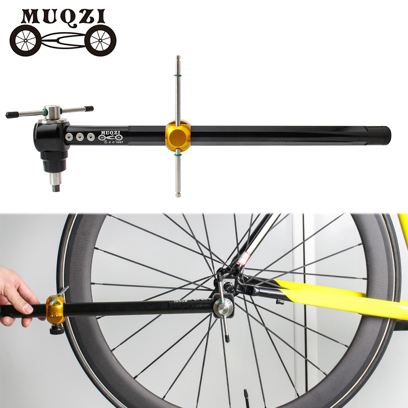 MUQZI Road Bicycle Derailleur Hanger Alignment Gauge Alignment Ranging Tool For Mtb Foldable Fixed Gear Bike Within 14-29 Inches