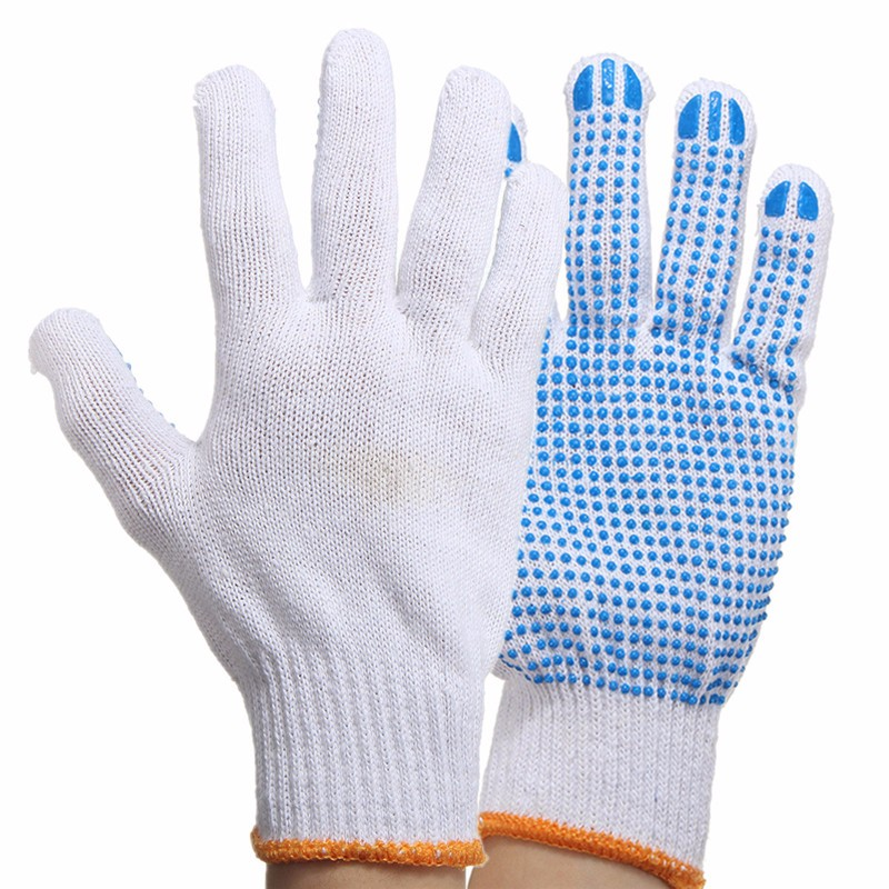 Work Protective Gloves With Rubber Dots Anti Slip Safety Gloves For Construction Worker Garden Labor Working