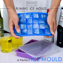 24-hole Silicone ice tray with lid Food Grade Silicone Ice Tray DIY Ice Cube Mold Square Shape Ice Cream Maker Bar Accessories creative diameter 45mm silicone ice hockey single hole silicone ball ice tray ice model