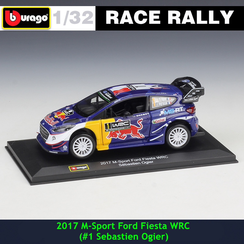 Bburago 1:32 2017 M-Sport Ford #1 DS WRC DTM Rally Racing Alloy Model Car Model Collecting Gifts