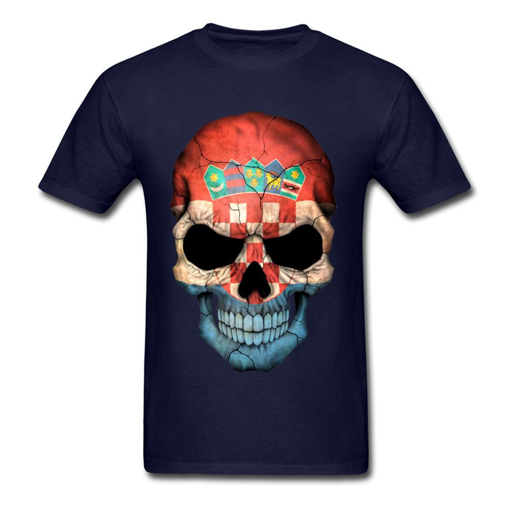 Croatian Flag Skull_navy