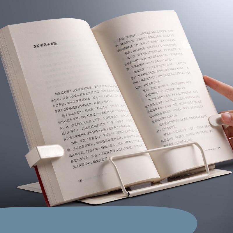 2021 Adjustable Portable Metal Adjustable Reading Book Holder Support Document Shelf Bookstand Tablet Music Score Recipe Stand