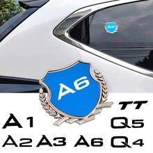 3D Metal Chrome Badge Sticker Car Styling Emblem Decal For audi A1 A2 A3 A4 A5 A6 A7 A8 Q2 Q3 Q4 Q5 Q7 Q8 TT car sticker