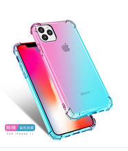 Gradient Ultra Thin Case For iPhone 11 Pro MAX Transparent Cover Rainbow Silicone Phone XR XS Max 8