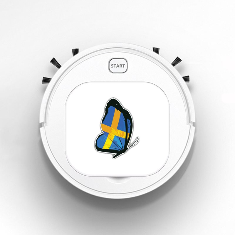 Smart Robot Vacuum Cleaner Rechargeable USB Auto Sweeping Mop Clean Robot Sweeping Cleaner Personality Sweden Butterfly Flag