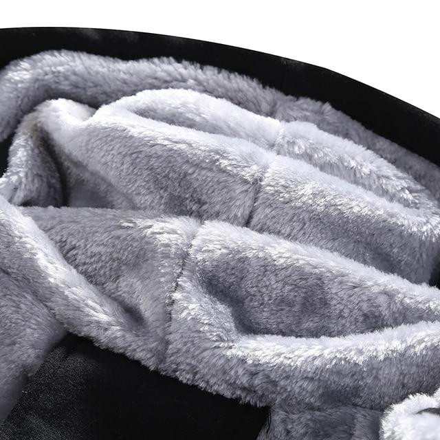 2020 Winter Thick Men Sports Suit Tracksuit Hooded Sportswear Zipper Cardigan Hooded+Elastic Pants Casual Men Fleece Warm Sets 4