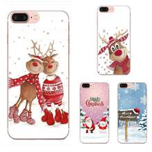 TPU Design Merry Christmas Elk Snowman For LG G2 G3 G4 G5 G6 G7 K4 K7 K8 K10 K12 K40 Mini Plus Stylus ThinQ 2016 2017 2018(China)